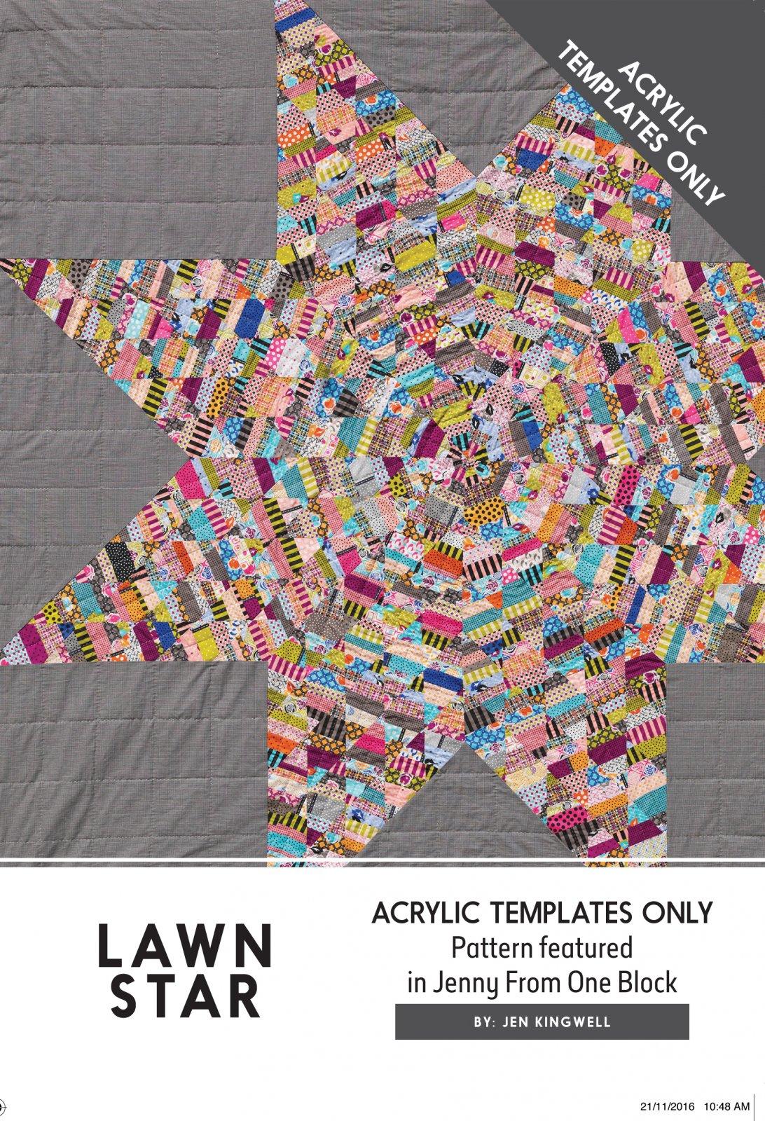 Lawn Star Acrylic Template by Jen Kingwell