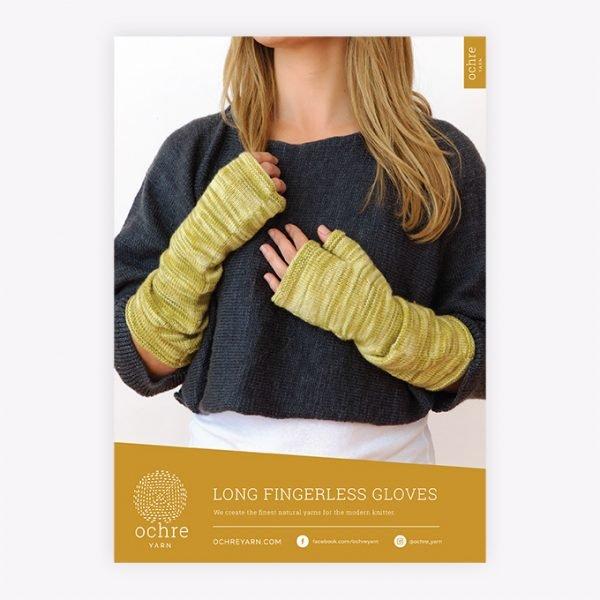 Ochre Yarn - Long  Fingerless Gloves Pattern