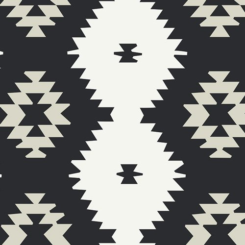 Art Gallery Fabrics - Maureen Cracknell - Love Story - Daring Tribal Noir
