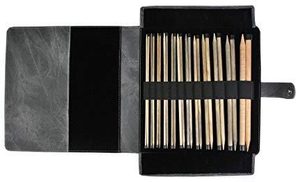 Lykke Driftwood Straight Needle Set in leather case