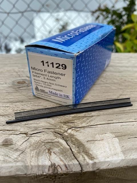 Micro Fastener Micro Stitch Tags 3.4mm - Box 10000 - Black