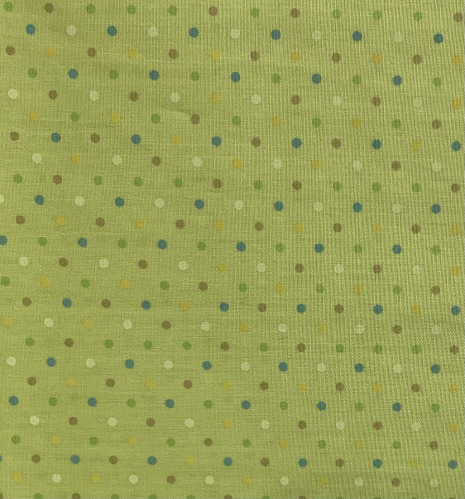Japanese - Printed Poplin - Small Spots - Lime Multi