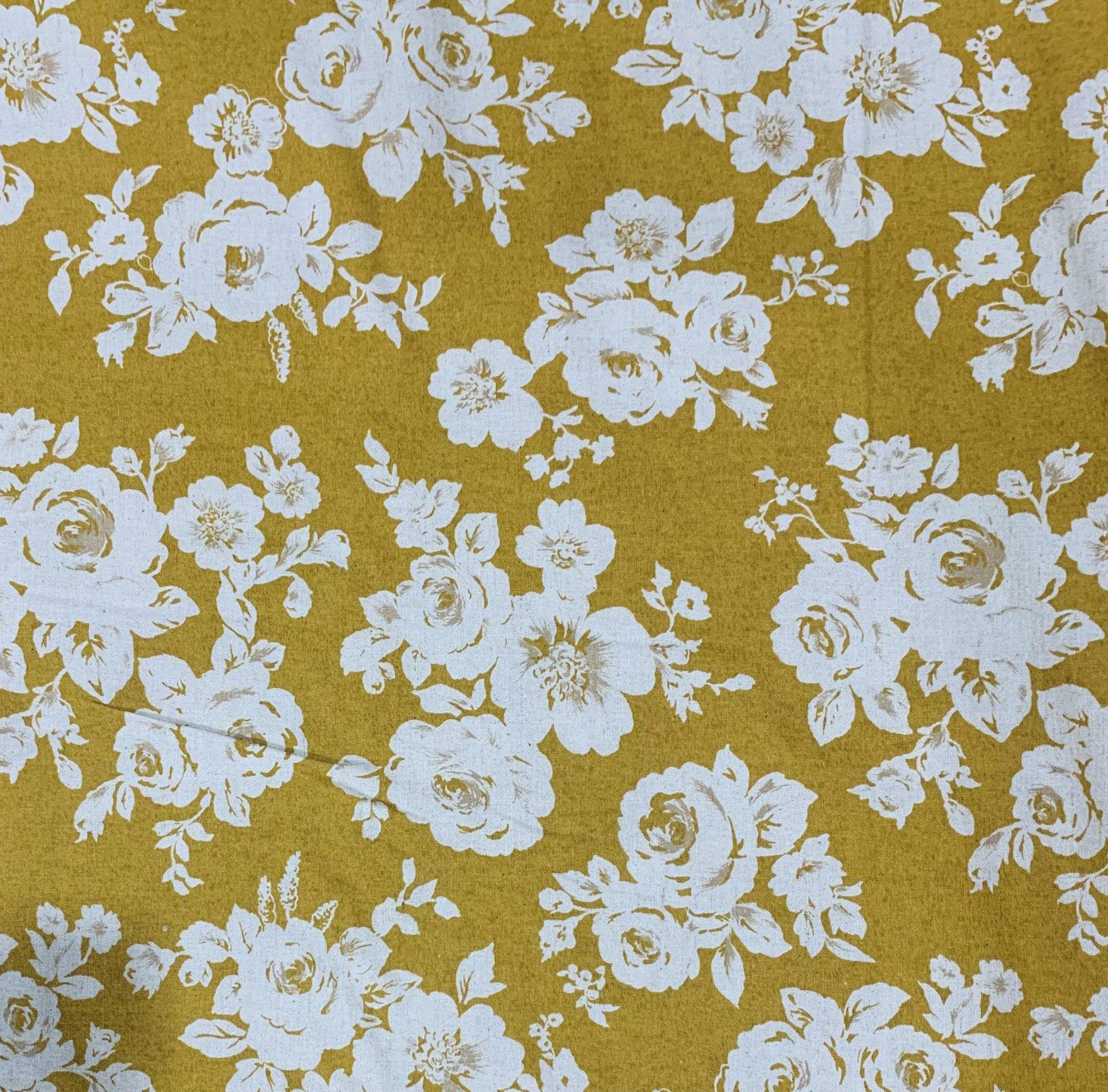 Kokka Fabric - Mustard Floral
