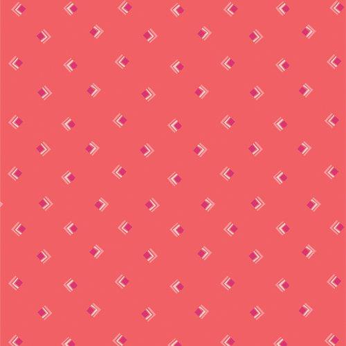 Art Gallery Fabrics - Open Heart - Everlasting Tokens Coral