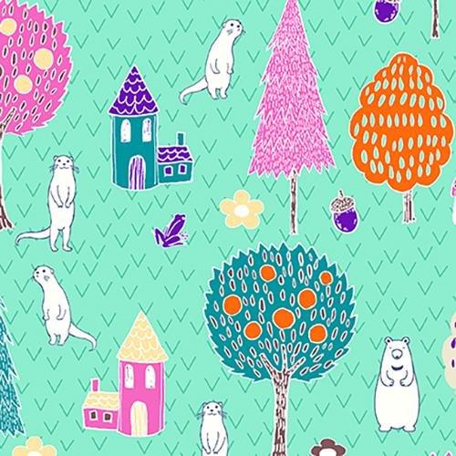 Paintbrush Studio - Otter Romp - Village - Turquoise