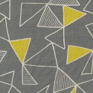 Kokka Fabrics - Trefle Cucito Triangle - Grey