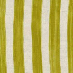 Kokka Fabrics - Trefle Cucito Stripe - Chartruse