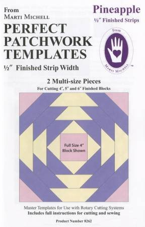 Perfect Patchwork Templates - Pineapple 1/2