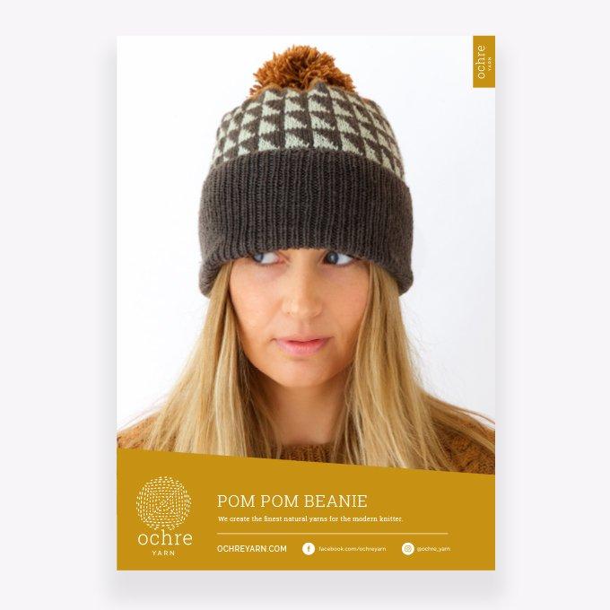 Ochre Yarn - Pom Pom Beanie Pattern