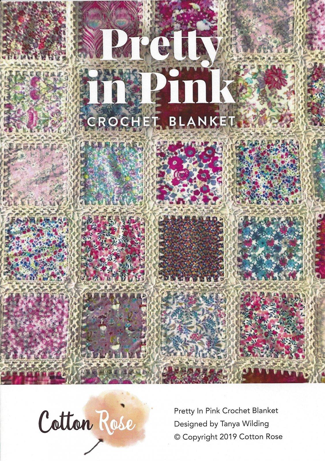 Pretty in Pink Crochet Blanket - Starter Kit - Liberty Charm Pack