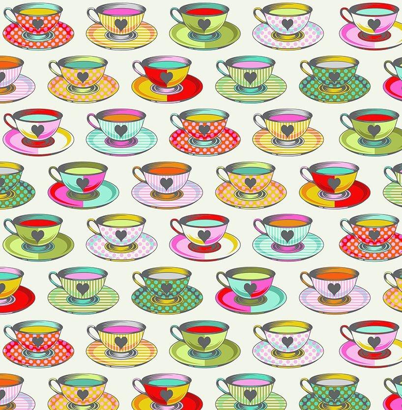Free Spirit - Tula Pink - Curiouser and Curiouser - Tea Time - Sugar