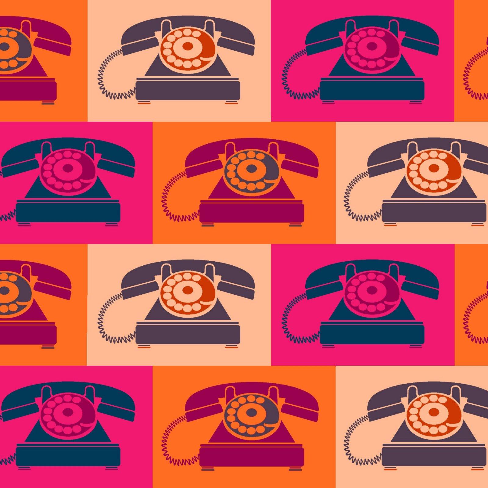 Paintbrush Studio - Ring Ring - Vintage Telephone - Pink