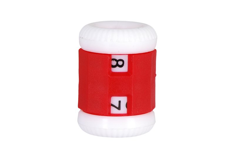 Row Counter for 4.5mm - 6.5mm needles / Red