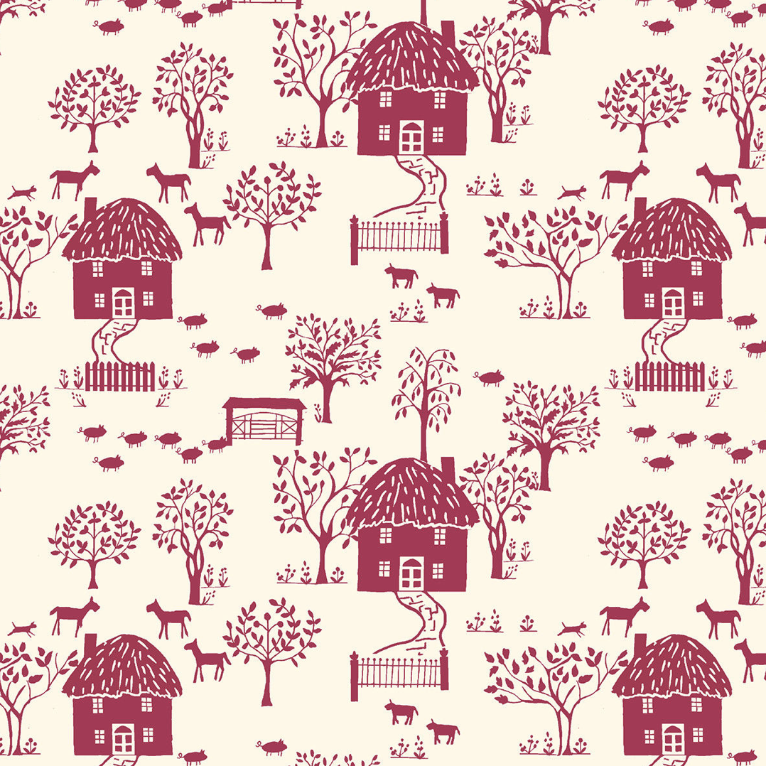 Liberty Of London - Cottage Garden - Cottage Lane - Purple