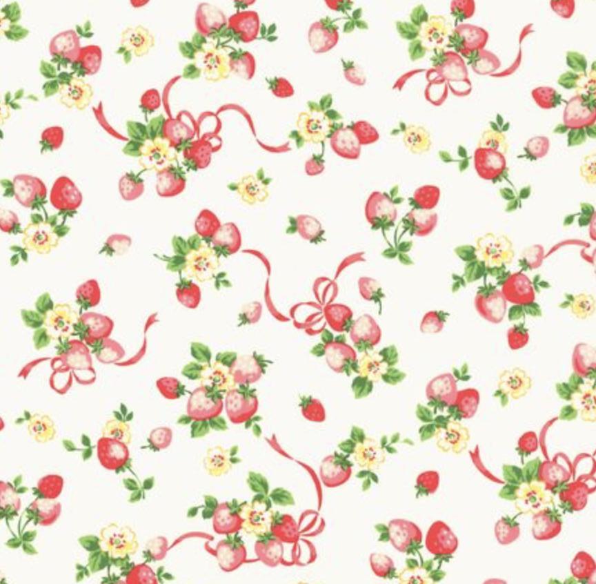 Yuwa - Atsuko Matsuyam - Strawberry Boutique - White