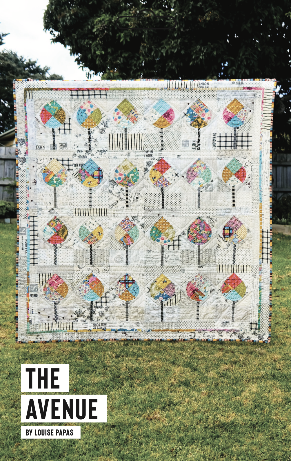 The Avenue Pattern And Acrylic Template by Louise Papas