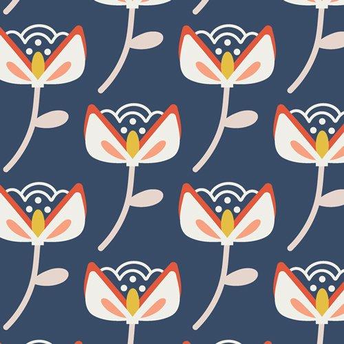 Art Gallery Fabrics - Dana Willard - Summer Side - Bungalow Bloom - Moonrise