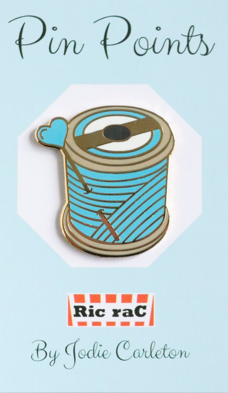 Pin Points - Jodie Carleton - Cotton Reel - Blue