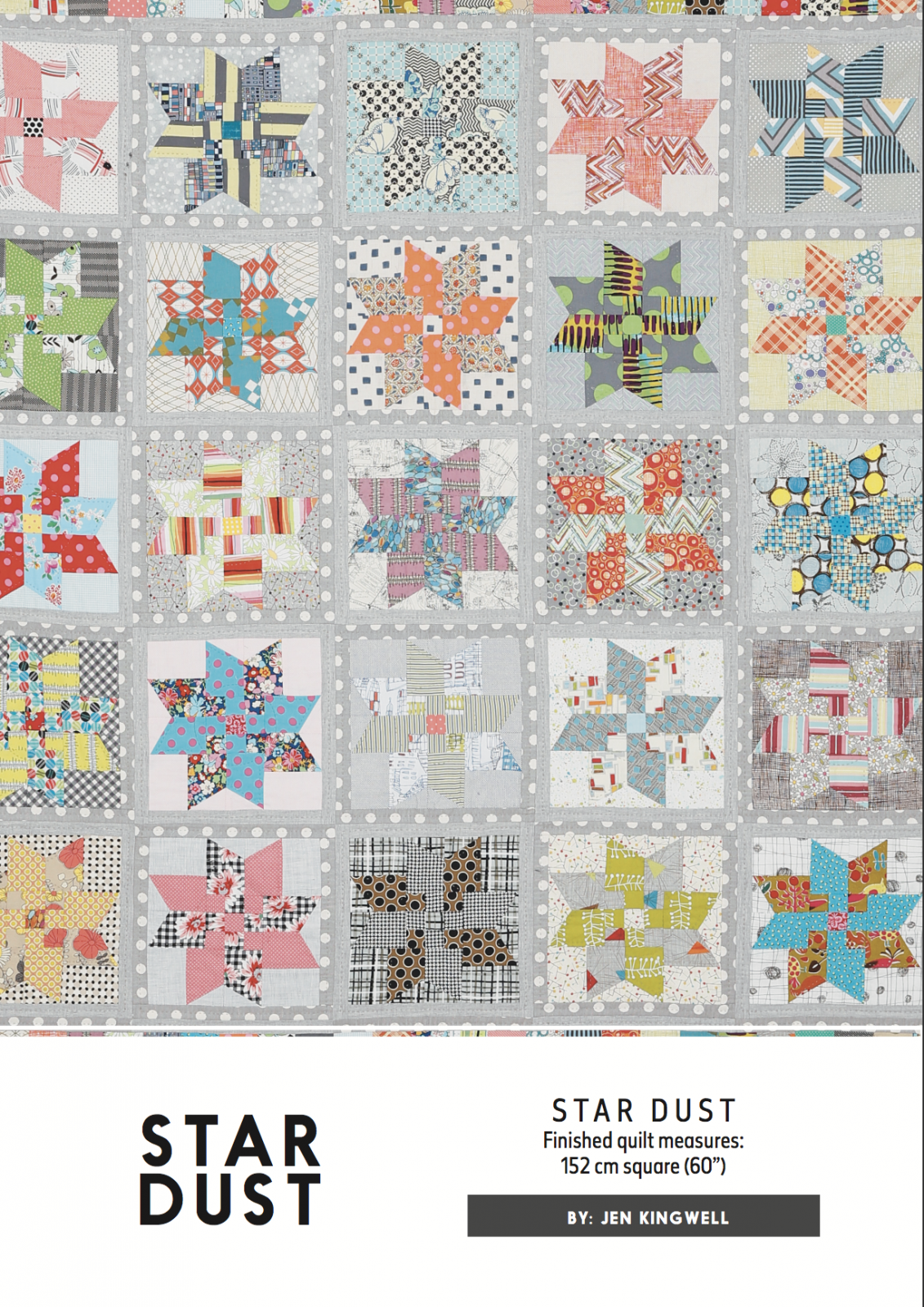Star Dust Pattern by Jen Kingwell Designs