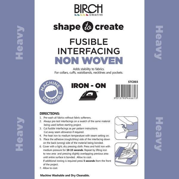 Shape to Create - Interfacing - No Woven - Heavy 90cm