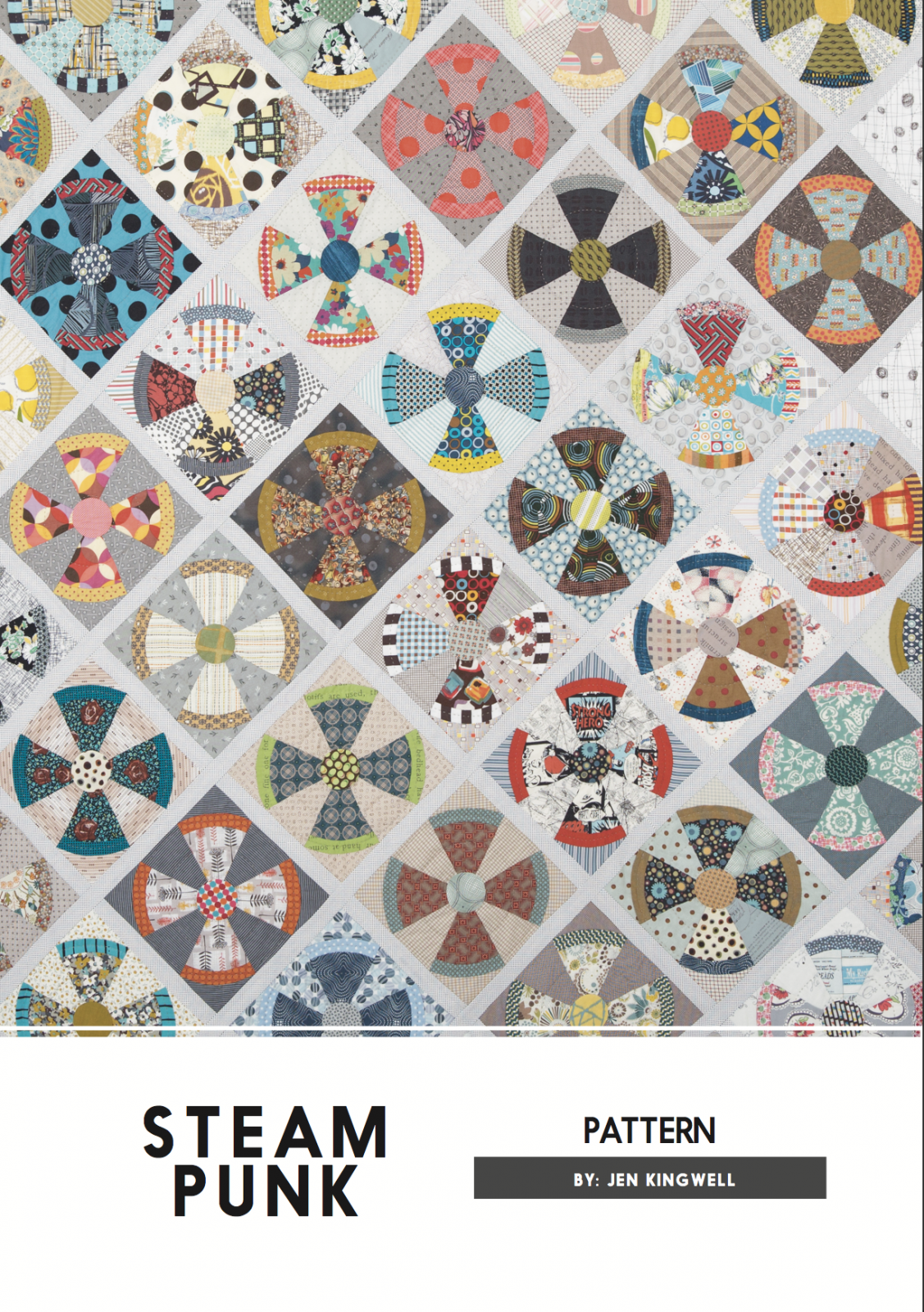Steam Punk Pattern by Jen Kingwell