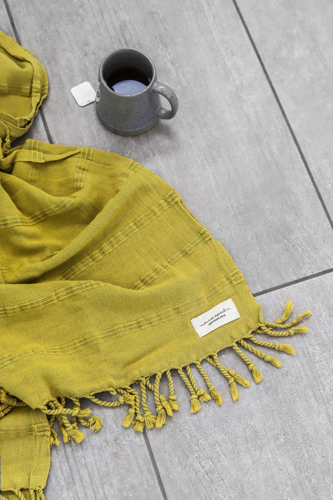Miss April - Stonewash Turkish Towel - Pistachio Green