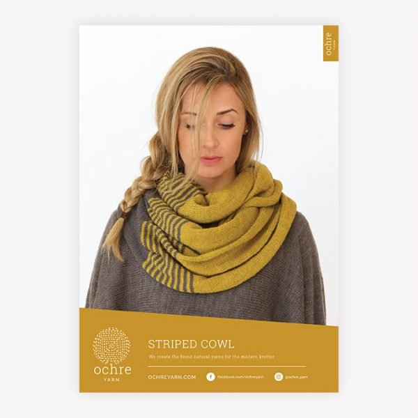 Ochre Yarn - Striped Cowl Pattern