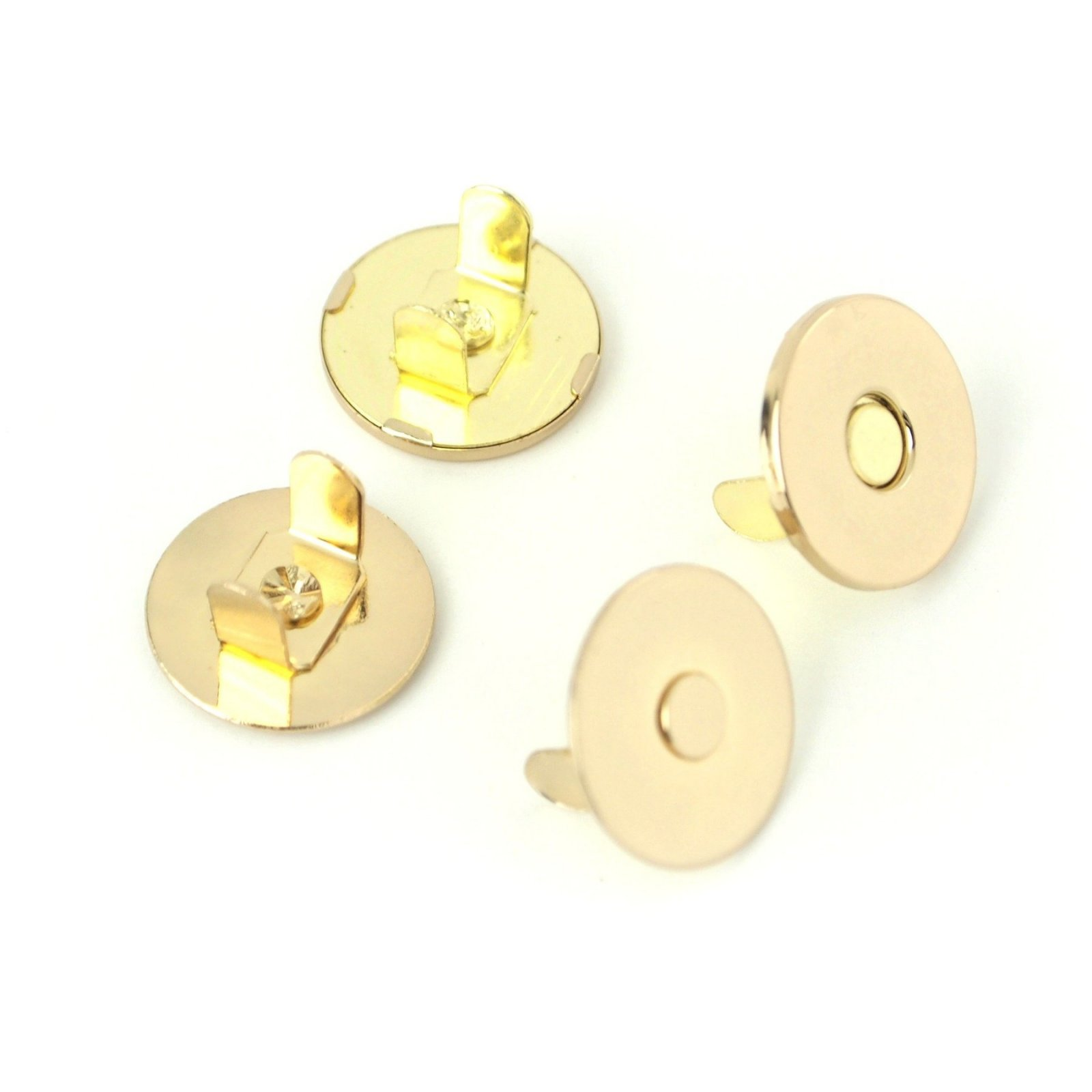 Sallie Tomato - 3/4 Inch Magnetic Snaps - Gold
