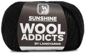 Lang Yarn - Wool Addicts - Sunshine - Black