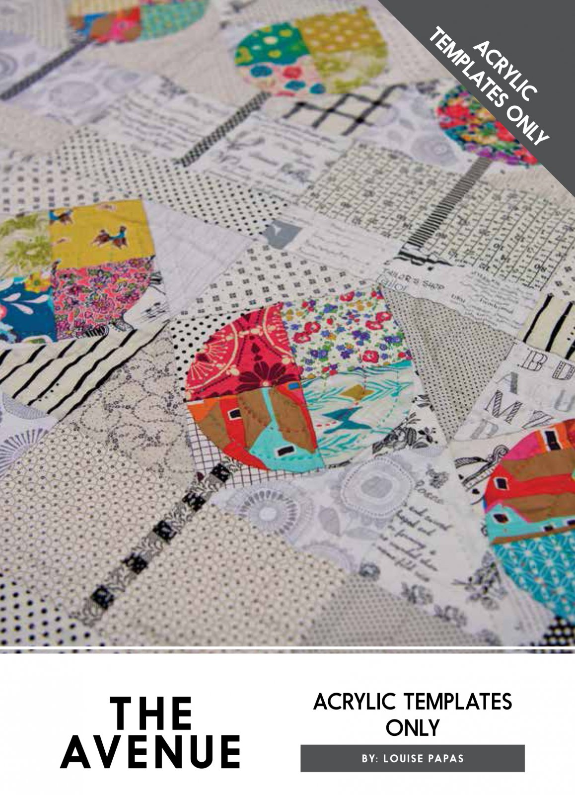 The Avenue Acrylic Template Only by Louise Papas for Jen Kingwell Designs