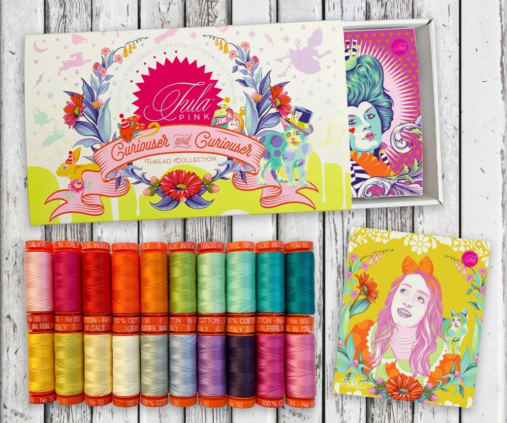 Curiouser and Curiouser Aurifil Thread Collection by Tula Pink