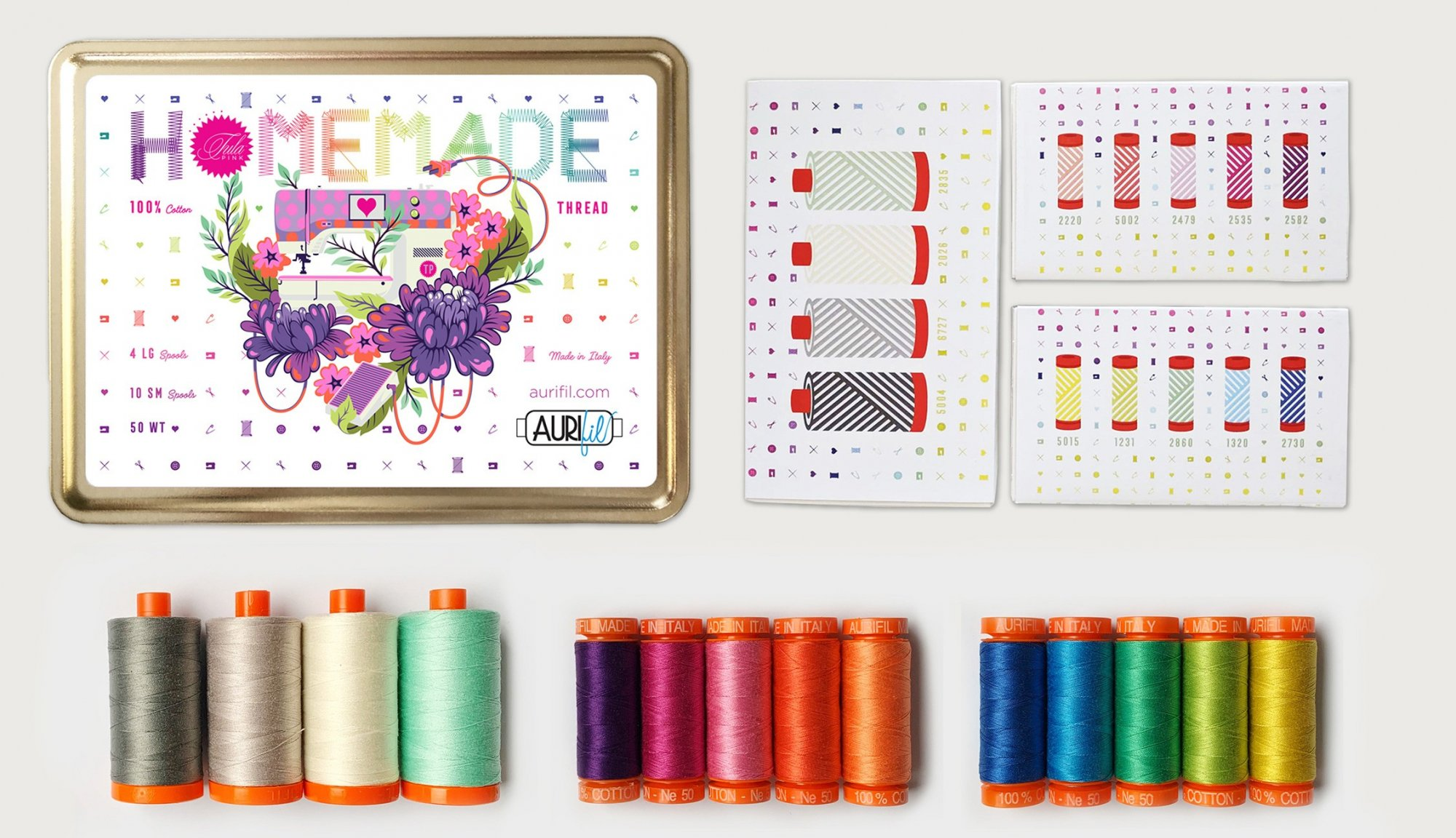 Tula Pink - Homemade - Aurifil Thread Tin Collection