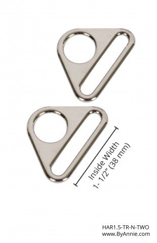 ByAnnie - Purse Parts - 1.5 Triangle Ring - Nickel