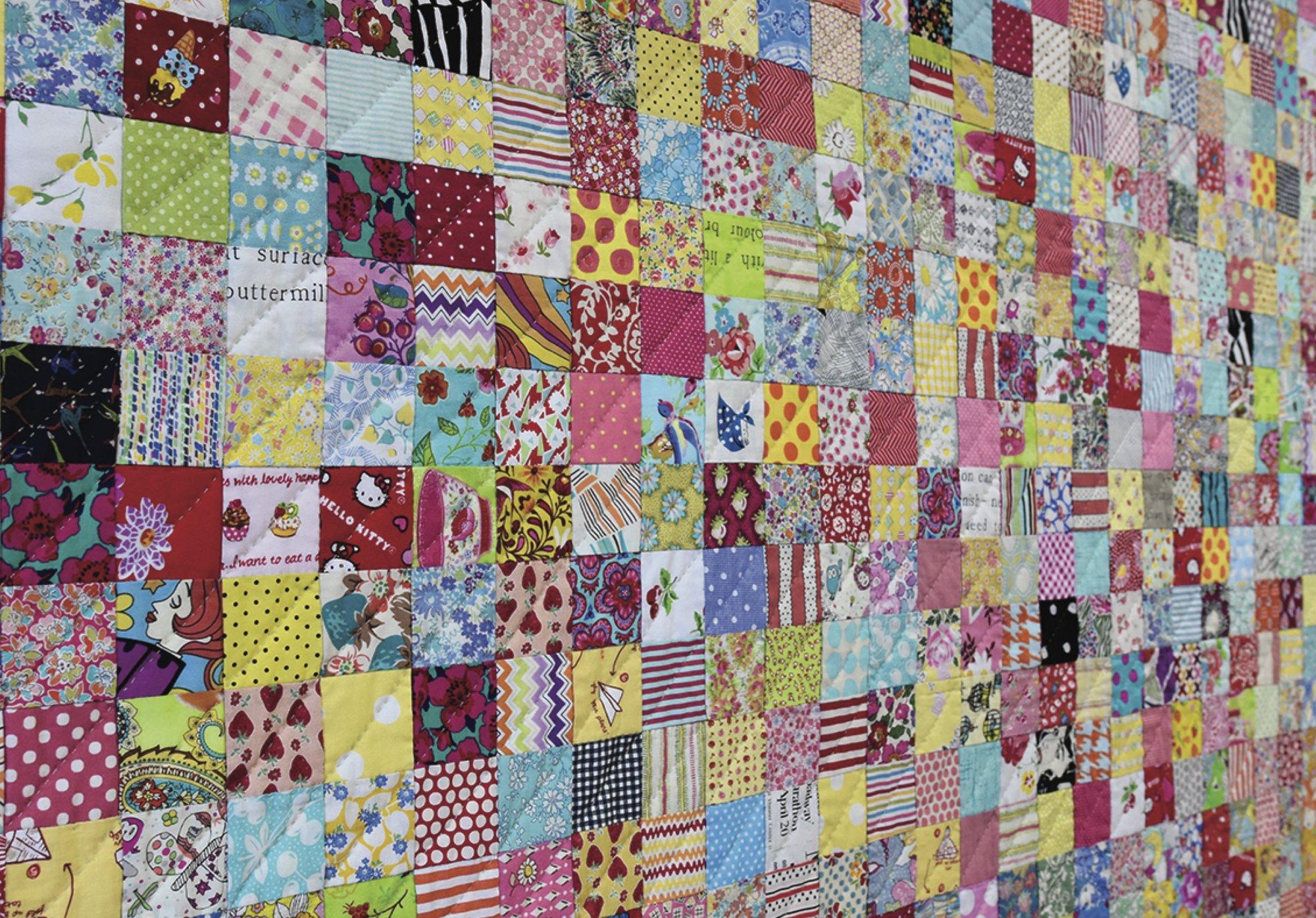 Postcard Project #3 - Scrappy Squares