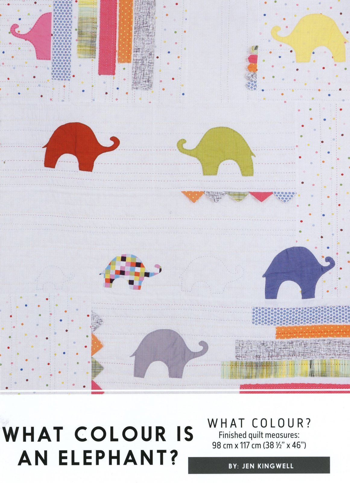 What Colour is an Elephant? Pattern by Jen Kingwell
