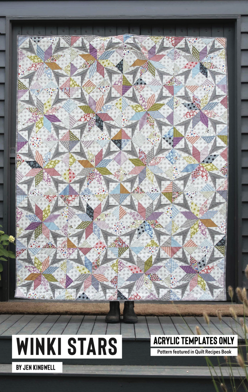 Winki Stars Acrylic Template Only Set from Quilt Recipes by Jen Kingwell