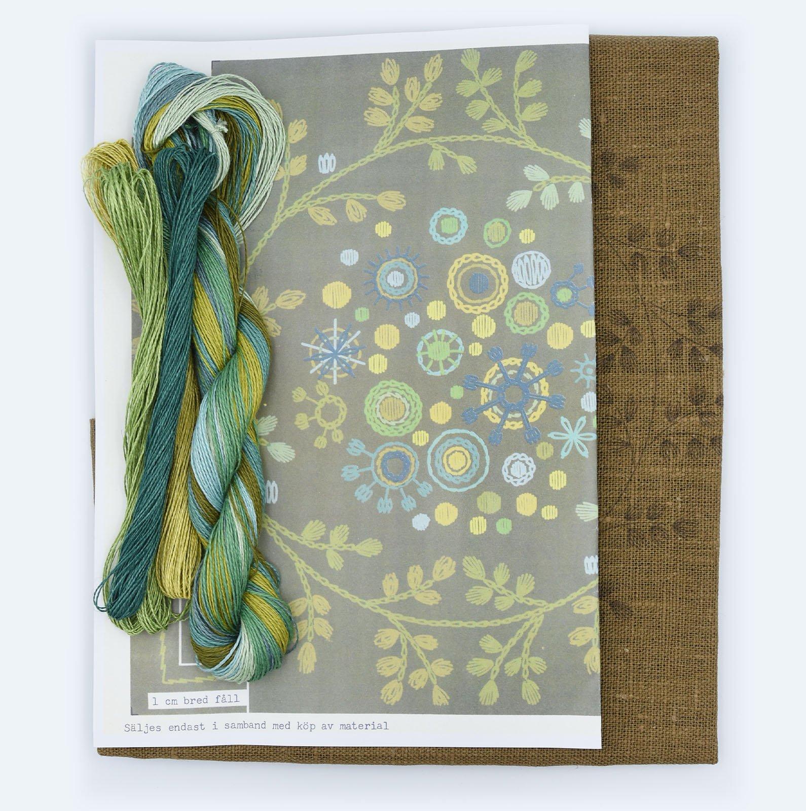 Linladan - Woodland Wreath - Cushion Kit with linen thread