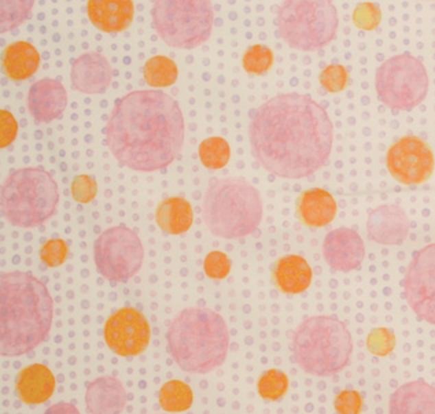 Yuwa - Yoko Ueda - Raindrops Collection - Pink/Orange