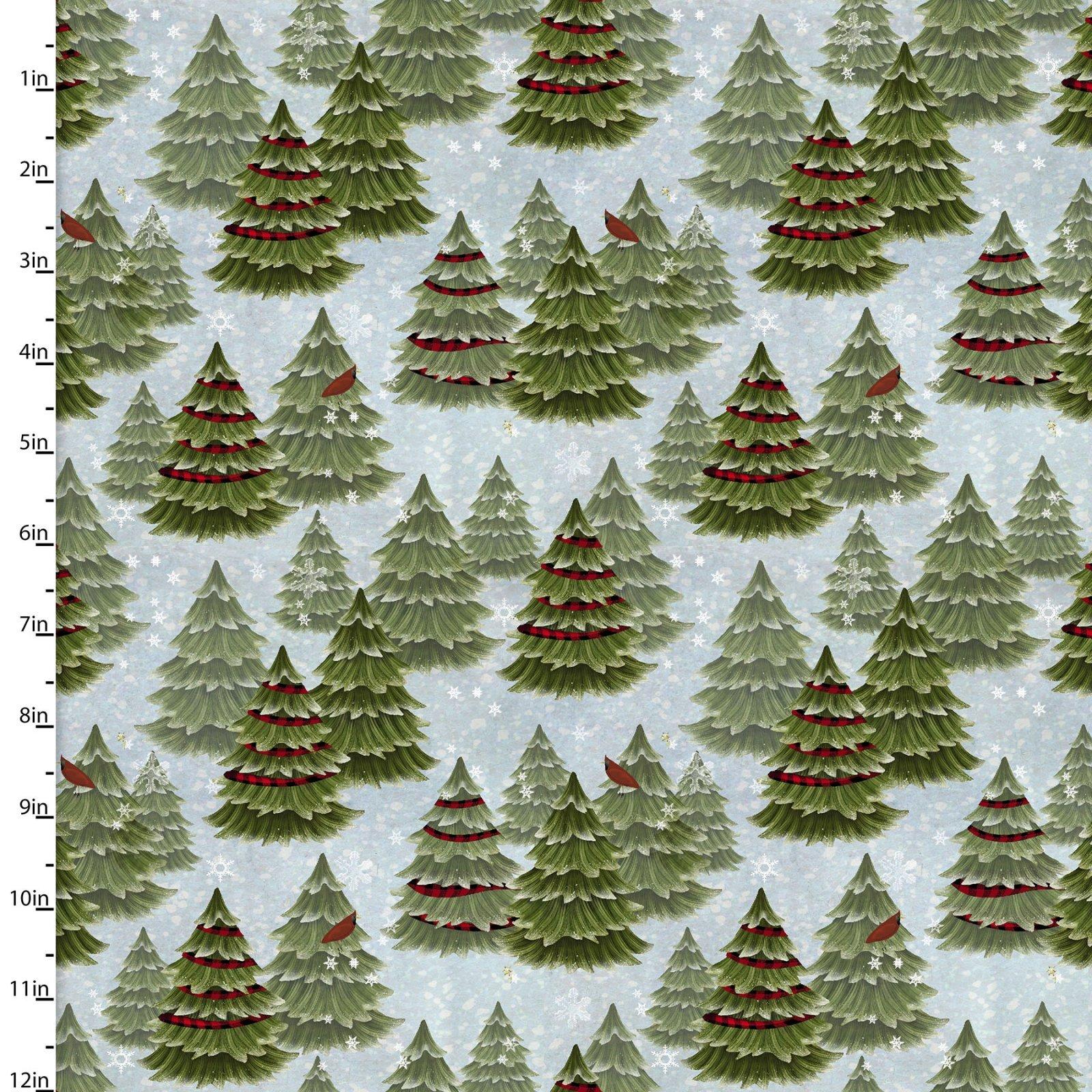 3JINGLEALLWAY 16629 - BLU - CHRISTMAS TREES