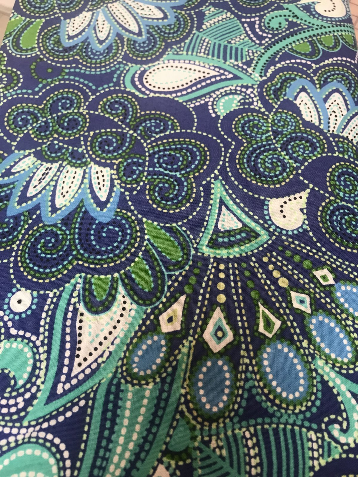 Carnival Blue - STITCHED PAISLEY NAVY