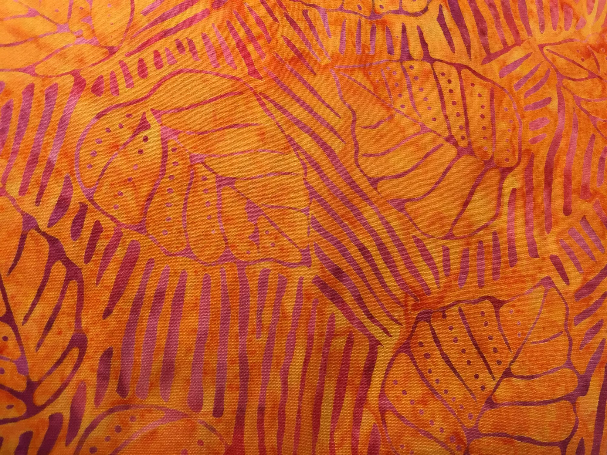 BATIK - Orange with Leaves