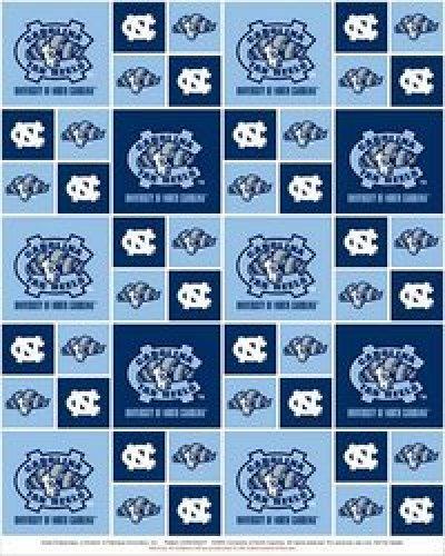 UNC - tarheels blocks on blue