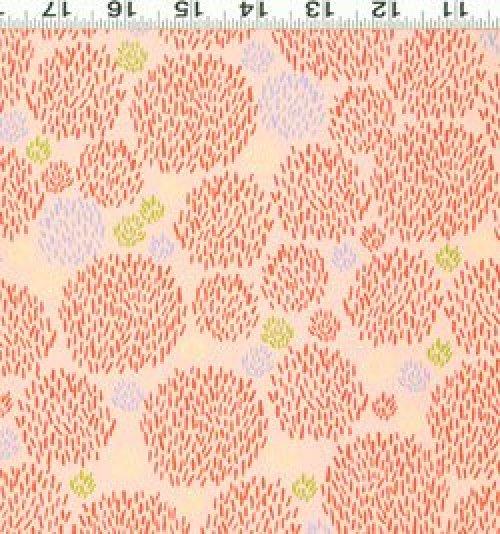 Safari Sweet - Organic Fabric orange brush prints