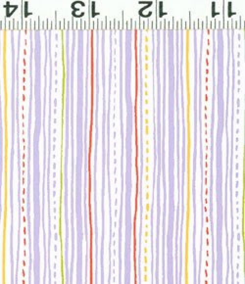 Safari Sweet - Organic Fabric purple stripes