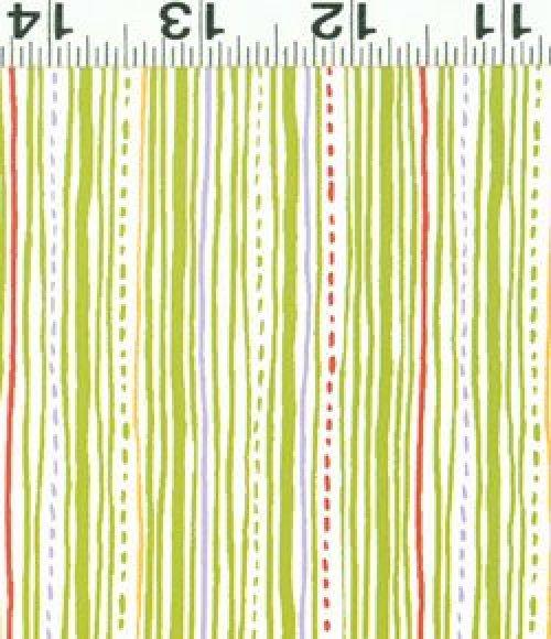 Safari Sweet - Organic fabric green stripes