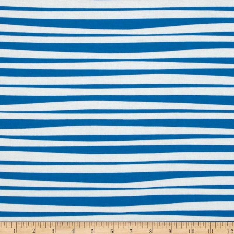 Blaggard's Bones - blue and white stripe