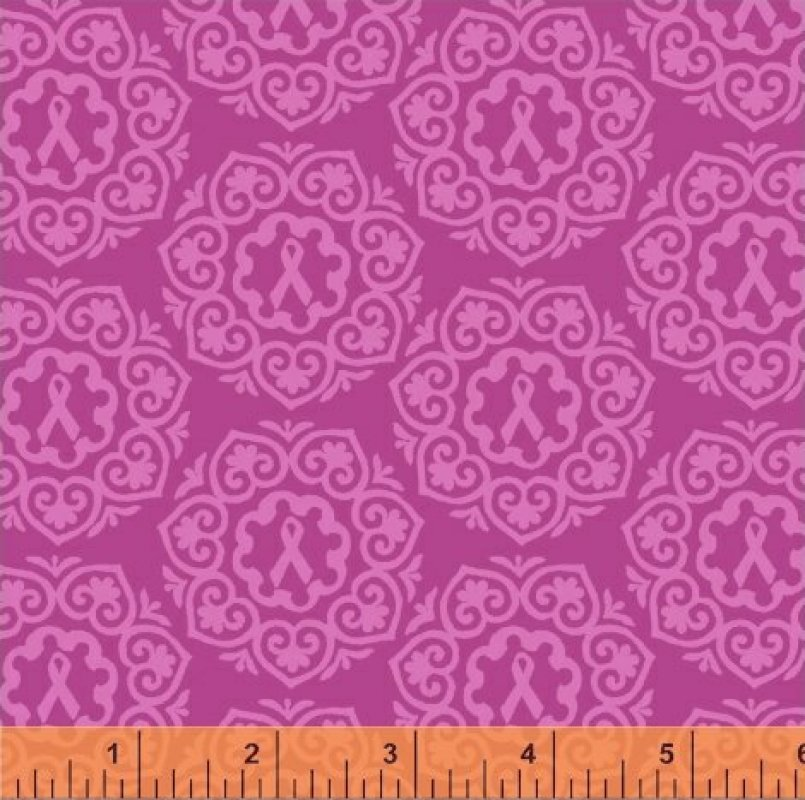 Project Pink - pink medallions on dark pink