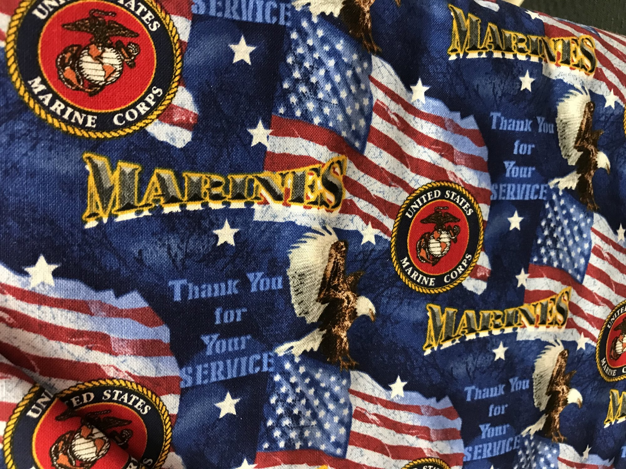 MILITARY COTTON FLAGS MARINES 1253M