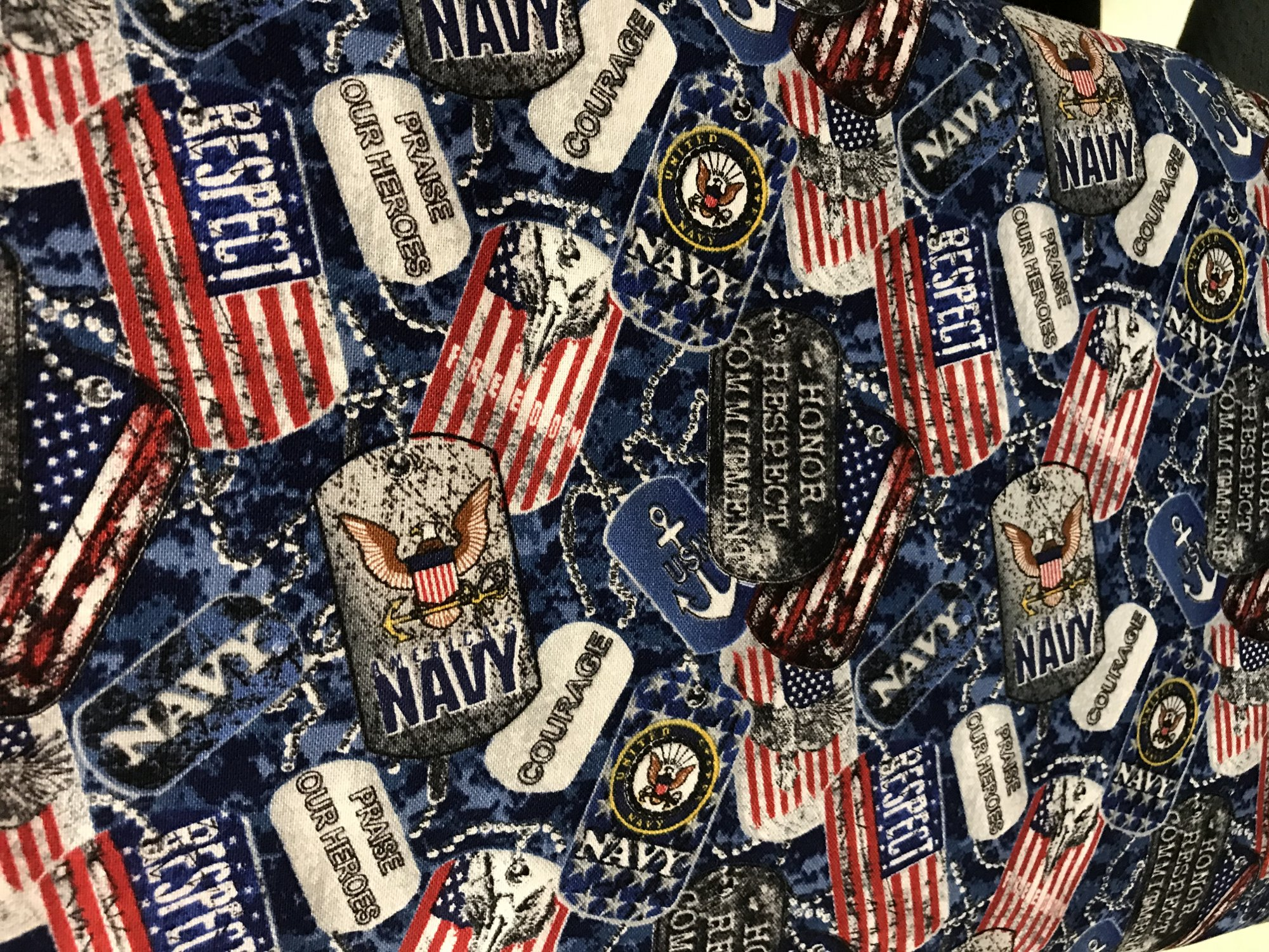 MILITARY COTTON DOGTAGS NAVY 1254N