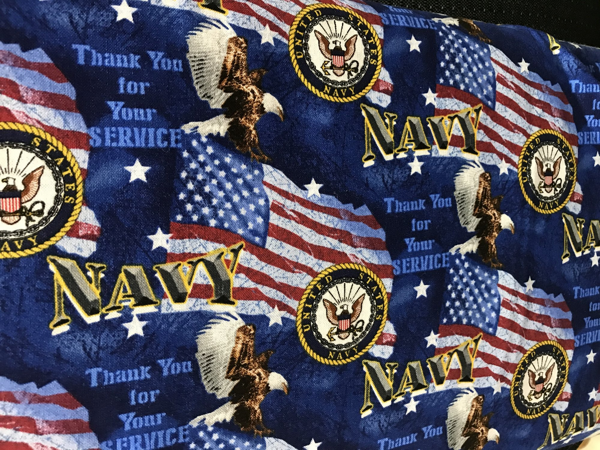 MILITARY COTTON FLAGS NAVY 1253N